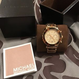 Michael Kors tortoise and gold